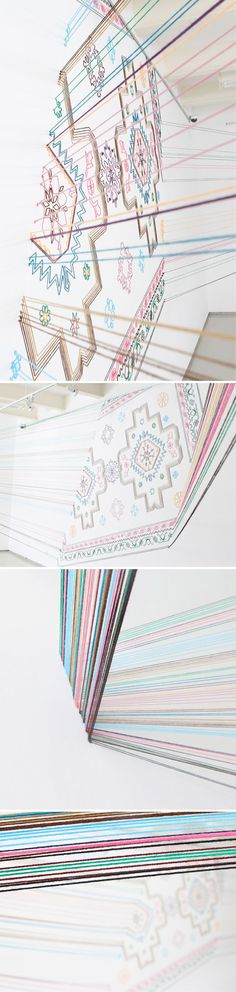 faig ahmed - embroidery installation