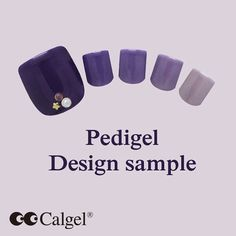 Pedicure design sample from Calgel Calgel Colors CGPU01+CGNG01 http://www.mogabrookusa.com #Calgel #MogaBrookUSA #GelNails #Calgelus #Nail #NailArt #NewColors #FootNail