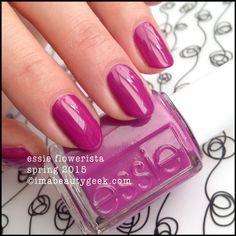 Essie Flowerista – Essie Spring 2015. For all the swatches, click on thru to www.imabeautygeek.com!