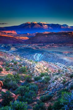 Sunset-view-from-Fiery-Furnace-at-Arches - Arches National Park in eastern Utah.