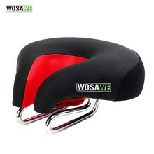 WOSAWE New Arrival Wide Thicken Bicycle Saddle Soft Comfortable MTB Mountain Road Bicycle High Resilient Leather Bike Saddle(China (Mainland))