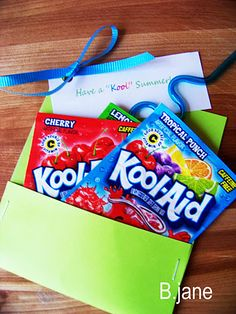 "Great Goodbye gift for the end of the year.  ""have a ""Kool"" summer"""
