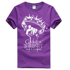 Game of Thrones Crown of thorns Purple T-shirts For Mens
