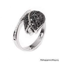 flower black diamond engagement ring - My Engagement Ring