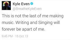 Part : Kyle Even says goodbye to Breathe Carolina Breathe Carolina, Singing, Bands, Writing, Sayings, Music, Musica, Musik, Lyrics