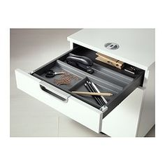 IKEA - SUMMERA, Drawer insert with 6 compartments, , Dampens sounds and protects the drawer against scratches.Drawer inserts help organize small things in a big drawer.
