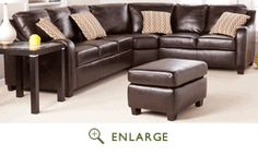 Montfort 4pc Sectional in Chocolate - Southern Enterprises UP0448