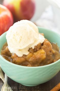 Slow Cooker Caramel Apple Pudding Cake | AllFreeSlowCookerRecipes.com