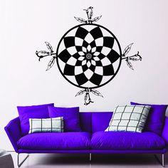 Wall Decals Dreamcatcher Feathers Mandala Art Home Bedroom Vinyl Sticker MR545 #STICKALZ #MuralArtDecals
