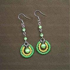 Earrings : How to make seed bead earrings