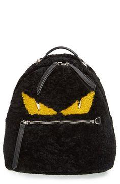 Fendi 'Mini Monster' Plush Backpack available at #Nordstrom