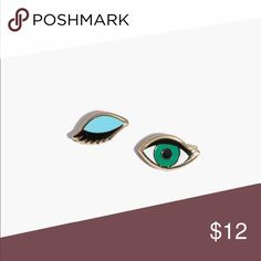 Madewell Pin Wink Set Based on memes and emojis (basically, anything you'd text to your sister), these addictive add-ons are made to personalize a jean jacket or tote.  This winking eye two-pack can be worn together or split up between friends.  * by Pintrill  Brass, enamel  🚫Trades ✅Price firm,Bundle to save on shipping Madewell Accessories