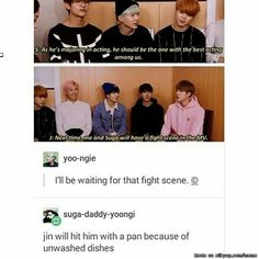 That is a fight scene I will look forward to! | BTS Jin & Suga