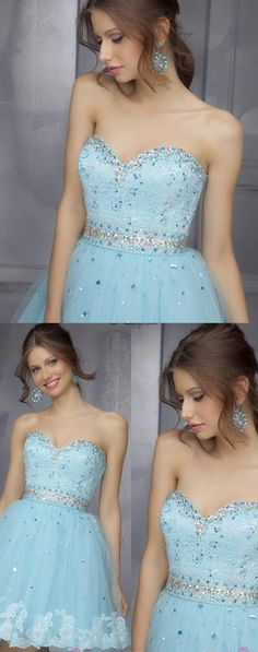 Cheap Prom Dresses, Short Prom Dresses, Prom Dresses Cheap, Blue Prom Dresses, Lace Prom Dresses, Tulle Prom Dresses, Sweetheart Prom Dresses, Cheap Homecoming Dresses, Light Blue Homecoming Dresses, Prom Dresses Blue, Light Blue dresses, Homecoming Dresses Cheap, Short/Mini Homecoming Dresses, Light Blue Short Homecoming Dresses, Mini Short Homecoming Dresses, Mini Homecoming Dresses, Short Homecoming Dresses, Sweetheart Homecoming Dress Rhinestone Lace Tulle Short Prom Dress Party Dr...