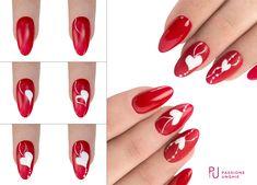 Holiday Nail Designs, Holiday Nail Art, Winter Nail Art, Gel Nail Designs, Fancy Nails, Red Nails, Pretty Nails, Romantic Nails, Nail Mania