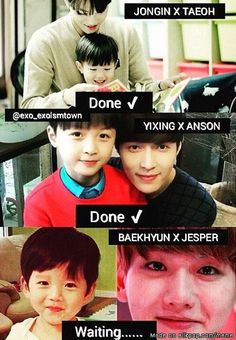 EXO & children| also daeul and Chen and haowen and sehun too!