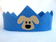 Felt Crown  Wool Felt Crown  Puppy Dog by FeltLikeCelebrating, $15.00