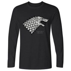 4abb1872ba60 Game of Thrones HanHent Winter is coming Direwolf T-shirt House Stark  Cotton T-s