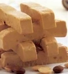 Turron de Jijona (Jijona Nougat) a Classic Spanish recipe for an almond, hazelnut and honey nougat with *egg whites that's traditionally serv...