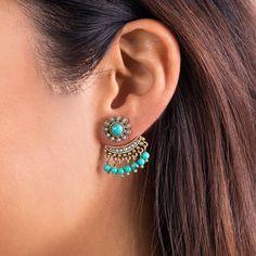 JAIPUR Flower Drop Earrings