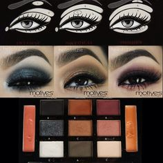 We are crazy in love with these 3 different looks by #hellofritzie using Motives Beauty Weapon Palette!