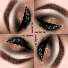 This gold and black look with its perfect blending and flawless winged liner has us smitten! Follow these steps to wear this stunning eye to your next night out.