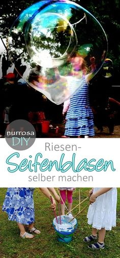 Make large soap bubbles / giant soap bubbles yourself - Outdoor Ideas - Große Seifenblasen / Riesenseifenblasen selber machen – Outdoor Ideas Make large soap bubbles / giant soap bubbles yourself # Make large soap bubbles / giant soap bubbles yourself Crafts For Teens To Make, Mothers Day Crafts For Kids, Diy For Kids, Diy And Crafts, Upcycled Crafts, Big Bubbles, Soap Bubbles, Outdoor Activities For Kids, Party Activities
