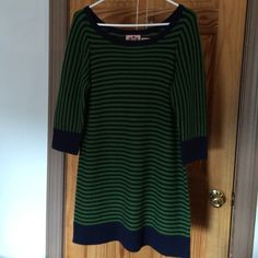 Juicy Couture Dress Green and Navy stripes. Sweater dress. Reposh Doesn't fit like I had hoped. Just want to make my money back on this one. Price firm. Juicy Couture Dresses