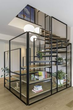 Interior stairs architecture decoration New Ideas Interior Stairs, Interior Exterior, Interior Design, Metal Stairs, Modern Stairs, Painted Stairs, Stairway Lighting, Stairs Architecture, Interior Architecture
