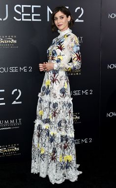 Lizzy Caplan from The Best of the Red Carpet  Refined and regal in a floor-sweeping Erdem gown.
