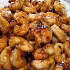 Sweet and Spicy Honey Grilled Shrimp Recipe Main Dishes with shrimp, garlic, fresh ginger, garlic paste, garlic paste, honey, lime juice, kosher salt, ground black pepper, canola oil, shrimp, garlic, fresh ginger, garlic paste, garlic paste, honey, lime juice, kosher salt, ground black pepper, canola oil
