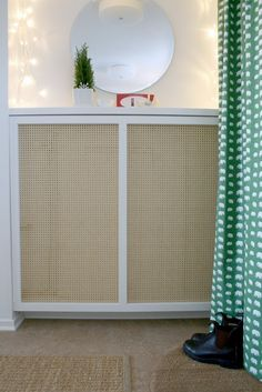 Radiator Cover 10 Clever DIY Projects to Hide Household Eyesores Home Diy, Radiator Cover, Diy Cabinets, Heater Cover, Clever Diy, Home Projects, Diy Radiator Cover, Diy Heater, Home Decor