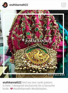 Blouse Neck Patterns, Designer Blouse Patterns, Pattu Saree Blouse Designs, Bridal Blouse Designs, Aari Embroidery, Embroidery Designs, Stone Work Blouse, Lehenga, Anarkali