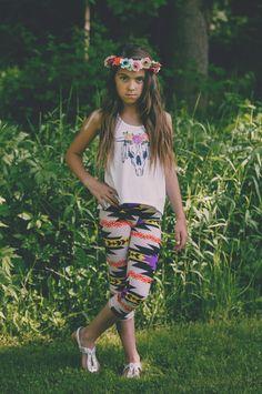 Kids Aztec Print Leggings | BB Children's Boutique