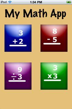 My math app er gratis og øver de 4 regningsarter. Man kan vælge starter eller advanced. Man skal selv skrive facit og få det rettet.