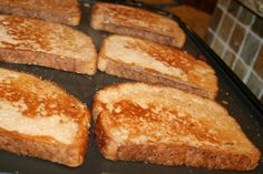 serves 2 2 eggs beat smooth and foamy 1/2 cup milk 1tsp vanilla 3 Tble. flour 1/8 tsp salt 6 slices of bread 3 tsp butter (to oil skillet or griddle) yummy sweet syrup Heat griddle to 350 or a skil…