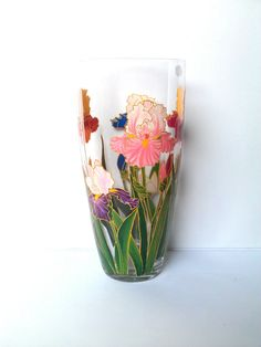 Amia Gl Vase Votive With A Colorful Hand Painted