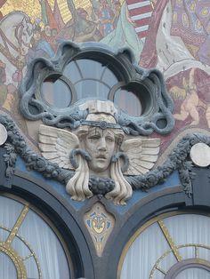 Budapest architectural art nouveau details