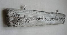 Shabby chic hanger, jewelry hanger, key hanger, wedding gift, driftwood hanger. $20.00, via Etsy.