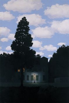 Empire of Light (L'Empire des lumières), 1953–54. René Magritte.