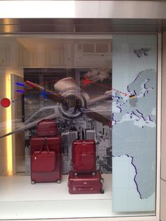 Retail Display Design – RIMOWA – Store Front Display Visual Display, Display Design, Rimowa, Store Displays, Store Fronts, Window, Retail, Pop, Wall