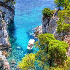 Gorgeous Skopelos Greek island in the western Aegean Sea. Photography by @tatsolbe #aroundtheworldpix