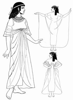 Kalasiris, a long linen dress. the kalasiris was the uniform of the Egyptian woman. In its earliest form, the kalasiris was a very close-fitting tube dress, sewn at the side, that was held up by two straps that attached behind the neck.The straps came together at the front and the breasts were exposed. Other versions of the dress had a single strap that went over one shoulder but were still nearly formfitting.
