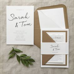 Minimalist Wedding Invitation - Minimalist Wedding Invitation with bellyband You are in the right place about minimalist room Here - Engagement Invitations, Simple Wedding Invitations, Wedding Invitation Wording, Wedding Stationary, Wedding Invites Rustic, Wedding Cards, Diy Wedding, Wedding Events, Wedding Day