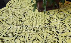 Centro de mesa em crochê; linha 100% Algodão Mercerizado.