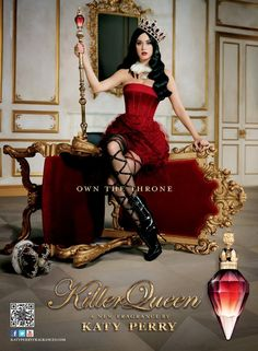 Katy Perry Killer Queen profumo: la campagna pubblicitaria, lo spot, il backstage e le foto #katyperry #killerqueen #campaign
