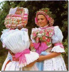 slovenske ludove kroje   Dievčenský sviatočný odev – Sekule. Folk Costume, Costumes, Anthropology, Harajuku, Two By Two, History, Faces, People, Language