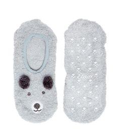 Chaussettes chaussons oursons - Chaussons - Les accessoires - Lingerie de nuit