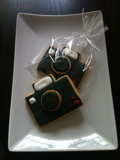 Camera shaped cookies