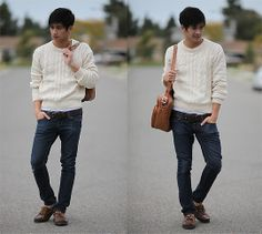 If you are chilly, here take my sweater (by Peter Adrian) http://lookbook.nu/look/1717753-If-you-are-chilly-here-take-my-sweater
